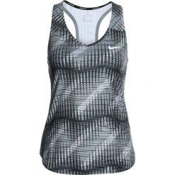 Nike Performance PURE TANK Koszulka sportowa black/white. Czarne topy sportowe damskie marki Nike Performance, l, z materiału, outdoorowe. Za 169,00 zł.
