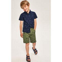 Odzież dziecięca: Szorty z egzotycznym nadrukiem – Khaki