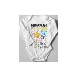 Body z indywidualnym nadrukiem. Czarne body niemowlęce marki ŁAP NAS, l, z aplikacjami, z bawełny. Za 40,00 zł.