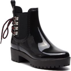 Kalosze GIOSEPPO - 45829 Black. Czarne buty zimowe damskie marki Gioseppo, z materiału. W wyprzedaży za 149,00 zł.