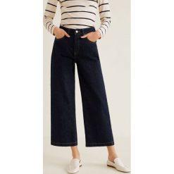 Mango - Jeansy Newculot. Niebieskie jeansy damskie relaxed fit Mango, z podwyższonym stanem. Za 139,90 zł.