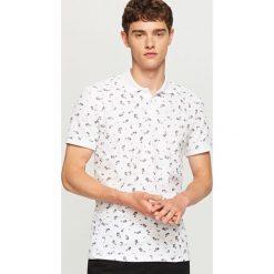 Odzież męska: Koszulka polo z nadrukiem – Biały