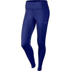 Legginsy: Nike Legginsy biegowe damskie Dri-Fit Epic Run Tight granatowe r. M (646212-457)