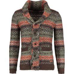 Swetry rozpinane męskie: Solid KLARCK Kardigan coffee bean