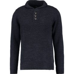 Swetry klasyczne męskie: Burton Menswear London NECK ECRU Sweter navy