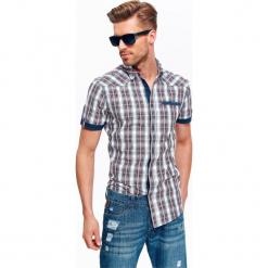 KOSZULA MĘSKA W KRATĘ O KROJU SLIIM. Brązowe koszule męskie w kratę marki QUECHUA, m, z elastanu, z krótkim rękawem. Za 29,99 zł.