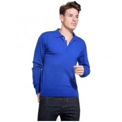 William De Faye Sweter Męski M Niebieski. Niebieskie swetry klasyczne męskie marki Oakley, na lato, z bawełny, eleganckie. Za 259,00 zł.