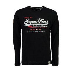 """Koszulka """"Jiobrasil"""" w kolorze czarnym. Czarne t-shirty chłopięce z długim rękawem Geographical Norway, m, z nadrukiem, z okrągłym kołnierzem. W wyprzedaży za 99,95 zł."""