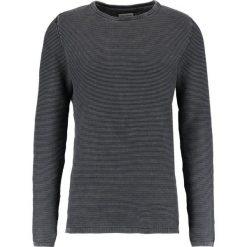 Swetry klasyczne męskie: Shine Original ACID WASH ONECK Sweter dusty black