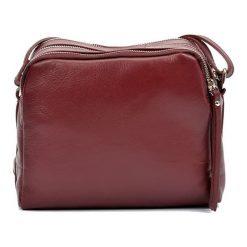 Torebki klasyczne damskie: Skórzana torebka w kolorze bordowym – (S)20 x (W)22 x (G)9 cm