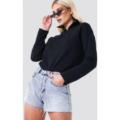 NA-KD Trend Jeansowe spodenki z wysokim stanem - Blue. Niebieskie bermudy damskie NA-KD Trend, z jeansu, z podwyższonym stanem. Za 161,95 zł.