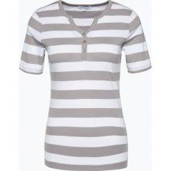 Brookshire - T-shirt damski, szary. Zielone t-shirty damskie marki bonprix, z kołnierzem typu henley. Za 89,95 zł.