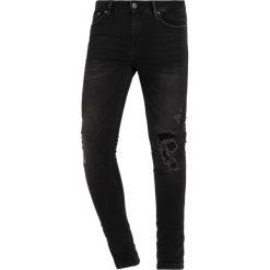 Topman SPRAY  Jeans Skinny Fit black. Czarne rurki męskie Topman. Za 249,00 zł.
