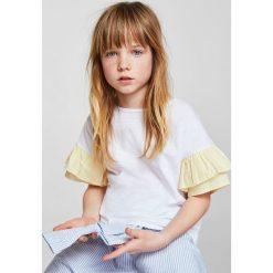 Mango Kids - Top dziecięcy Dai 110-164 cm. Szare bluzki dziewczęce Mango Kids, z bawełny, z okrągłym kołnierzem. Za 59,90 zł.