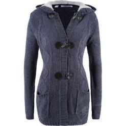 Sweter rozpinany z szenili, długi rękaw bonprix jagodowy. Szare kardigany damskie marki Mohito, l. Za 129,99 zł.