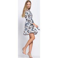 Sukienki: Czarno-Beżowa Sukienka Azorella