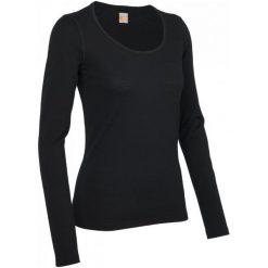 Icebreaker Koszulka Termoaktywna Wmns Oasis Ls Scoop Black S. Czarne topy sportowe damskie marki B'TWIN, m. W wyprzedaży za 239,00 zł.