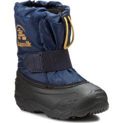Buty zimowe chłopięce: Śniegowce KAMIK – Tickleeu NK9446 Navy