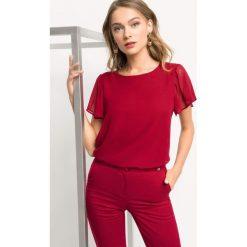 Koszulka z motylkowym rękawem. Brązowe t-shirty damskie marki Orsay, s, z dzianiny. Za 69,99 zł.