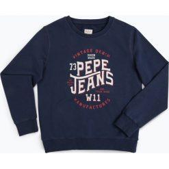 Pepe Jeans - Chłopięca bluza nierozpinana – Said, niebieski. Niebieskie bluzy chłopięce rozpinane Pepe Jeans, z nadrukiem, z jeansu. Za 179,95 zł.