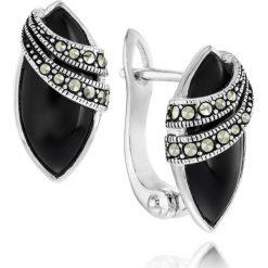 Kolczyki damskie: Piękne Srebrne Kolczyki – srebro 925, Markasyt…