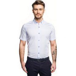 Koszula bexley 2322 krótki rękaw custom fit niebieski. Brązowe koszule męskie marki QUECHUA, m, z elastanu, z krótkim rękawem. Za 99,99 zł.