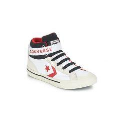 Buty Dziecko Converse  PRO BLAZE STRAP LEATHER HI. Białe trampki chłopięce marki Converse. Za 239,00 zł.