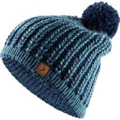 Czapka damska CAD615 - morska zieleń melanż - Outhorn. Zielone czapki zimowe damskie Outhorn, na jesień, melanż, ze splotem. Za 34,99 zł.