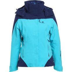 Salomon ICEROCKET Kurtka snowboardowa bluebird/medieval blue. Niebieskie kurtki sportowe damskie Salomon, xl, z elastanu, narciarskie. W wyprzedaży za 1223,15 zł.