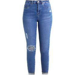 New Look FRAY HEM RIP DISCO AZELEA Jeans Skinny Fit bright. Czarne jeansy damskie marki New Look, z materiału, na obcasie. Za 169,00 zł.