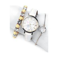 Zegarki damskie: Piękna i Bestia Belle Zegarek na rękę biały/złoty