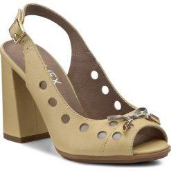 Rzymianki damskie: Sandały ANN MEX – 8022 10S+11S Żółty