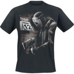 Friday The 13th Friday 12th Sad T-Shirt czarny. Czarne t-shirty męskie z nadrukiem Friday The 13th, xxl, z okrągłym kołnierzem. Za 74,90 zł.