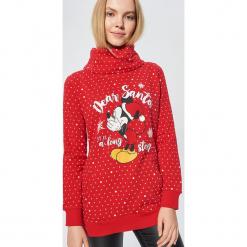 Świąteczna bluza MICKEY MOUSE - Czerwony. Czerwone bluzy damskie marki Cropp, l, z motywem z bajki. Za 99,99 zł.