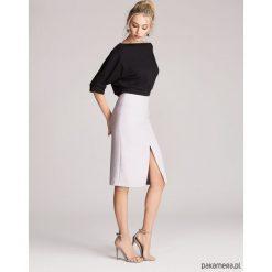 Spódniczki: Spódnica ołówkowa z rozcięciem szara