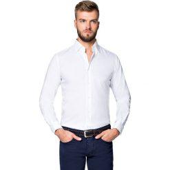 Koszula Biała Giovani. Białe koszule męskie na spinki LANCERTO, m, z bawełny. Za 299,90 zł.