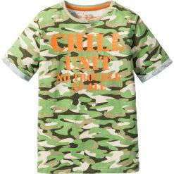 Odzież dziecięca: Shirt wzorzysty bonprix zielony wzorzysty
