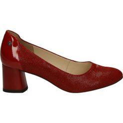 Czółenka - F961-18 PU RO. Brązowe buty ślubne damskie Venezia, ze skóry. Za 299,00 zł.