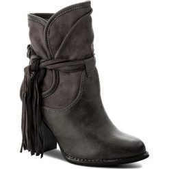 Botki JENNY FAIRY - WS17051-7 Szary. Szare buty zimowe damskie marki Jenny Fairy, z materiału. W wyprzedaży za 60,00 zł.