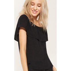 Bluzka typu hiszpanka - Czarny. Czarne bluzki asymetryczne House, l, z dekoltem typu hiszpanka. W wyprzedaży za 29,99 zł.