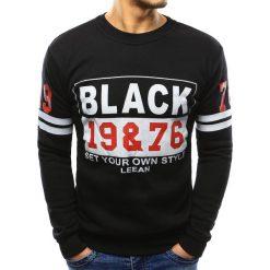 Bluzy męskie: Bluza męska z nadrukiem czarna (bx3355)