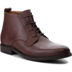 Buty zimowe męskie: Kozaki TOMMY HILFIGER - Color Block Heel Leather Boot FM0FM01602 Coffee 211