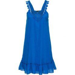Sukienki hiszpanki: Sukienka z koronką w dekolcie bonprix niebieski