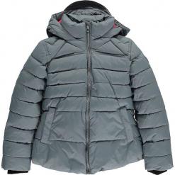 Kurtka zimowa w kolorze szarym. Szare kurtki dziewczęce zimowe marki CMP Kids, z polaru. W wyprzedaży za 175,95 zł.