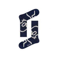 Skarpetki Happy Socks - Rope (RPE01-6000). Niebieskie skarpetki męskie marki Happy Socks, w kolorowe wzory, z bawełny. Za 34,90 zł.