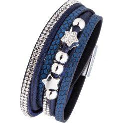 Bransoletka zawijana na ręce bonprix ciemnoniebieski. Niebieskie bransoletki damskie na nogę marki bonprix. Za 29,99 zł.