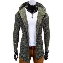 Bluzy męskie: BLUZA MĘSKA Z KAPTUREM NARZUTKA B669 – ZIELONA