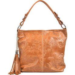 Torebki klasyczne damskie: Skórzana torebka w kolorze jasnobrązowym – 32 x 37 x 12 cm
