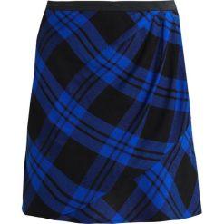 Spódniczki: GAP FAUX WRAP Spódnica z zakładką blue plaid