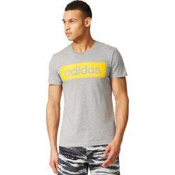 Adidas Koszulka męska Sports Essentials Linear Tee szara r. S (AY6258). Białe koszulki sportowe męskie marki Adidas, l, z jersey, do piłki nożnej. Za 84,66 zł.